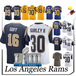 19e928f8d todd gurley jersey 2019 - Rams jersey Todd 30 Gurley Jared 16 Goff Aaron 99  Donald