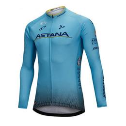 Ciclismo astana online-Ropa Ciclismo equipo ASTANA Ciclismo Jersey MTB manga larga camisa de bicicleta Hombres primavera otoño Ropa de bicicleta de carretera Ropa deportiva al aire libre Y072605