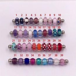 Le charme authentique de verre de Murano de véritables perles en argent sterling 925 convient au bracelet européen de bijoux de style de Pandora ? partir de fabricateur
