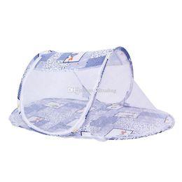 Lettino portatile culla culla pieghevole zanzariera infantile cuscino materasso biancheria da letto mobile presepe rete 110 * 60 * 38 cm Yurt C6682 da