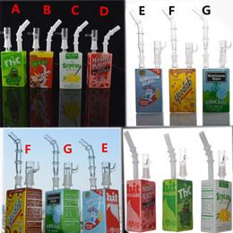borbulhador de suco Desconto Pipes Juice Hitman vidro Bongs Dab Box Oil Rigs água Bong Heady Bacia de vidro Pipes 14 milímetros removível Bocal Bubbler água taça Caliane