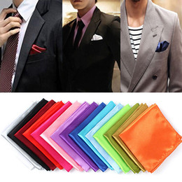 feste seidentasche Rabatt 1 stück Männer Silk Satin Einstecktuch Taschentuch Einstecktuch Einfarbig Hochzeit zubehör 25 Farben