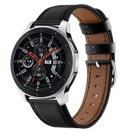 faixa de couro 22mm Desconto 22mm faixa de relógio de couro para samsung galaxy engrenagem ativa s3 huawei relógio huami pulseira de couro genuíno cinta 93002