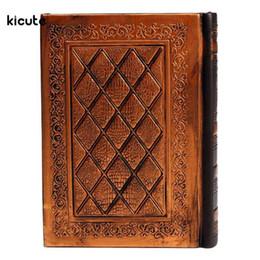 Vintage Blatt Klassisch Leder Deckel Loseblatt Leere Notizbuch Journal Tagebuch