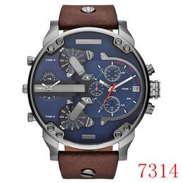 Nuovo orologio da uomo di marca quadrante grande orologio militare orologio da polso al quarzo a due fusi orologio regalo scelta da uomo supplier brand fuse da fusibile di marca fornitori