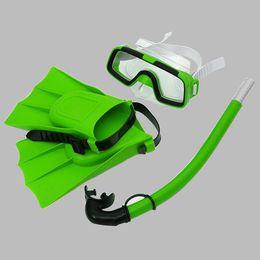 2019 tubo de respiração de máscara de natação Mergulho Óculos de Natação Máscaras de Snorkel Tubo de Respiração Snorkeling Flippers Amarelo, Verde, Laranja, Azul Conjunto tubo de respiração de máscara de natação barato
