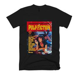 Sombreros de color rosa para las mujeres online-Pulp Fiction Mia Wallace Poster Camiseta para hombre / mujer, traje sombrero, camiseta rosa VINTAGE RETRO Camiseta clásica