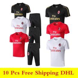 Definir camisetas de futebol on-line-19 20 AC milan Camisas Polo 2019 2020 camisas de futebol BAKAYOKO BORINI conjuntos CALDARA CUTRONE Camisa SUSO de manga curta camiseta fatos de treino