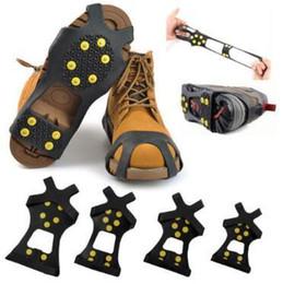 Canada Pinces de glace anti-dérapantes neige neige pics de randonnée pinces crampons Crampon pour chaussures, chaussures de marche Spike Grip Shoe 2pcs / paire supplier ice anti slip Offre