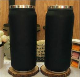 copos de geladeira palitos Desconto 2019 Nova Marca C preto Vacuum Cup thermoses garrafa de carro garrafa Frasco Copos Garrafa de palha Termica Inox batom copo de Café de Viagem de Casamento presente