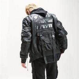Épais manteaux chauds d'hiver en Ligne-Nouveaux Hommes Militaire style hiver Épais Bomber Veste Multi-poche Ruban Streetwear Hip hop Haute qualité chaud Parka Veste manteaux
