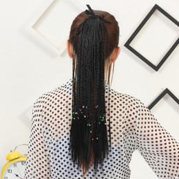 2019 großhandel synthetischen haar brötchen zubehör Simulation Haar weiblichen bosinian Wind handgemachte kleine Skorpion Simulation Haar Pferdeschwanz Gurt gebündelt Pferdeschwanz