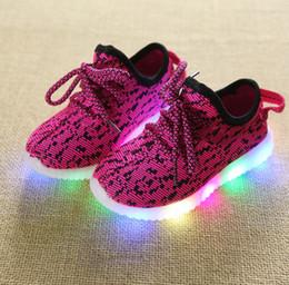 2019 chicas 11 12 años primavera otoño niños zapatos ligeros zapatos deportivos bebés niños niñas zapatillas luminosas zapatillas de deporte de los niños respirables zapatos corrientes 1-12 años rebajas chicas 11 12 años