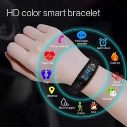 Precios de rastreadores de fitness online-Última inteligente Banda M4 M4 inteligente reloj rastreador de ejercicios Deporte pulsera de la pulsera impermeable de Bluetooth Low Price Smart reloj monitor cardiaco