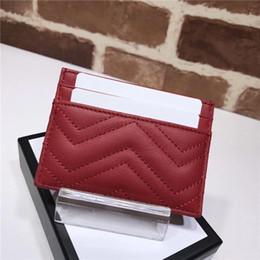 Vendre des pièces en Ligne-Livraison gratuite du sac à main de femmes célèbres de la mode vend des porte-cartes classiques de Marmont de haute qualité en cuir de luxe sac viennent avec boîte d'origine