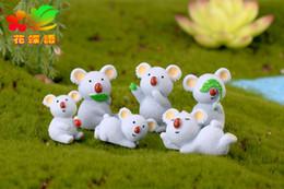 Accessori per piante in vaso artigianali all'ingrosso in miniatura Mini Koala Orso di Koala del fumetto della resina della decorazione della pianta artificiale del giardino artificiale del fumetto da vasi da giardino all'ingrosso della resina fornitori