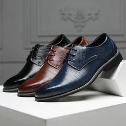 2e64640fd0f143 Top quality plus-size men's shoes US6~US13 new business dress working leather  shoes classic groom's wedding shoes on sale