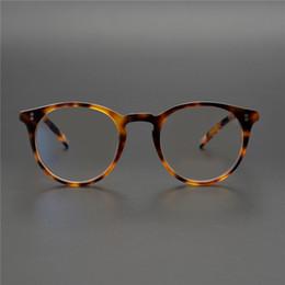 brillengestell rosa Rabatt OV5183 Brillengestell Frauen Männer Top-Qualität runde Weinlese-Brillen optische Oculos Computer-Brille Kurzsichtigkeit Prescription