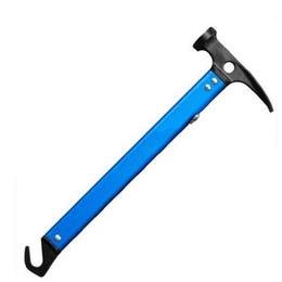 Instrumentos de seguridad online-Múltiples funciones de escalada Hammers Camp Instrumentos exteriores Carpas Nail EDC Aluminio Colores Mezcla Escape Seguridad 31mkf1