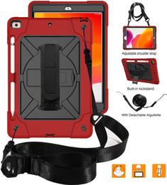 Для Ipad 7-го поколения 10,2 дюйма (2019) 360 градусов вращения подставка для камеры экран защиты чехол с плечевым ремнем от Поставщики samsung j1 ace pouches