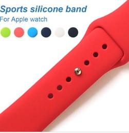 резиновые браслеты Скидка Спортивный ремешок для часов 42 мм 38 мм Силиконовый iwatch Series 3 2 1 Браслеты на запястье Браслет Резиновый ремешок для часов Ремень ремешок для Apple Watch Замена