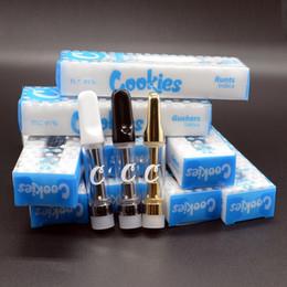 Cartuccia per biscotti 1,0 ml Cartuccia di ceramica Vape Cartuccia Imballaggio Cartuccia di olio denso in vetro vuoto Sigarette elettroniche da 510 fili da kanger tech mini fornitori