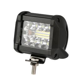 Luces led para atv utv online-4 Pulgadas 60 W LED Barra de luz de trabajo Combo Offroad LED Barra de luz Motocicleta Foglights para recolección 4WD 4x4 ATV UTV SUV Jeep Truck