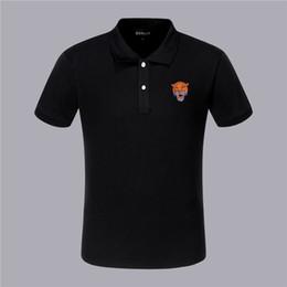 2019 cara de diseño de la camiseta PP moda de manga corta ropa de verano camisetas para hombres Tees 2019 nuevos productos Handsome Drill Back león cara diseño cara de diseño de la camiseta baratos