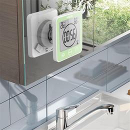 relógios de água Desconto LCD Digital impermeável para água Salpicos de Banho Relógio de parede Chuveiro Clocks Temporizador Temperatura Umidade Cozinha Wash quarto Timers