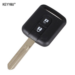 Chiave keyless online-Nuova sostituzione Remote Car Key Shell Case Fob Keyless Entry 2 Button per Qashqai Nissan Micra Navara Almera Note