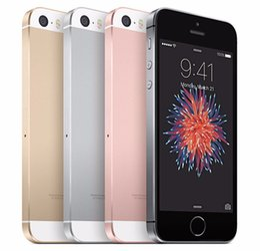 Argentina Desbloqueado Apple iPhone SE SIM Teléfono móvil gratuito 4G LTE Smartphones 2GB RAM 32GB / 64GB ROM 4.0inch 12.0MP iOS Touch ID Fingerprint Suministro