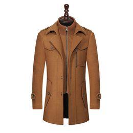 casaco de pêlo duplo breasted marrom Desconto Novo Inverno Casaco De Lã Slim Fit Jaquetas Moda Outerwear Homem Quente Casaco Casaco Jaqueta Casaco Plus Size M-XXXL