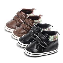 a86c28aece477 Bébé Tout-petit Chaussures Sneaker Anti-slip Semelle souple Bébé Première  Marche Chaussures PU Motif Anti-Slip Sneakers Chaussures promotion motif de  ...