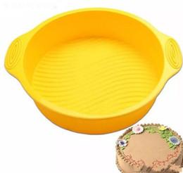 Canada Moules à pâtisserie ronds de moule de gâteau de silicone de qualité alimentaire moule à pâtisserie rond résistant à hautes températures de boulangerie qui respecte l'environnement Offre