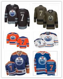 Juego usado camisetas de hockey online-2019 Custom Any Name Number Edmonton Hockey Jersey Green 7 Paul Coffey Hombres / MUJERES / JUVENTUD Oiler Game Worn Hockey Jersey Shirt