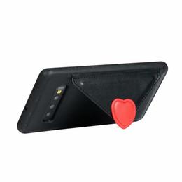 enveloppes d'amour Promotion Coque 3D Love Heart Pour Samsung Galaxy S10 S10 Plus S10 Note 9 Enveloppe en TPU De Luxe PU En Cuir ID Carte Fente Titulaire Stand Téléphone Couvre