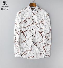 vestido camisa homens xadrez primavera Desconto New Designer Plus Size 7XL Primavera Men shirt clássico de alta qualidade formais geométrica da manta de manga comprida camisas de vestido dos homens