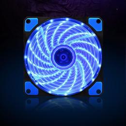 amd processor am3 Sconti 120mm 15 LED Ultra silenzioso Custodia per PC Computer Ventola di raffreddamento CPU Cooler 12V con connettore silenzioso in gomma Molex 3 / 4Pin Plug Ventole Cooler