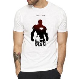 projeto da arte do jogo Desconto Homem de ferro invencível marvel volta art design tony tony stark t-shirt final game boy marca clothing