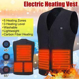 impressão de vidro barato Desconto Homens Mulheres elétrica Aquecimento Vest Jacket Softshell carregamento USB inverno quente aquecida Brasão 3 Engrenagens Temperatura M-3XL