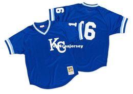 Cheap Mitchell   Ness Kansas City Jersey  16 Bo Jackson 1989 Retro Mens stitched  baseball jerseys 5e7049e6e