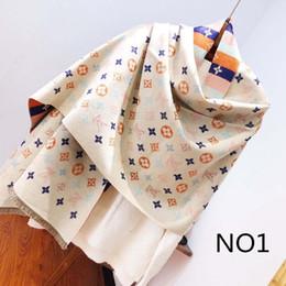 Designer cachecol tops homem das mulheres de luxo atumn inverno lã mistura xale cachecol marca lenços tamanho cerca de 180x70 cm 5 cores com opção de caixa de