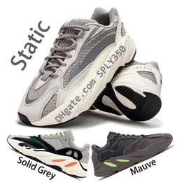 Zapatillas adidas online-Adidas Yeezy Boost 700 V2 Zapatillas estáticas 700 v2 de calidad superior para hombre 700 v1 malva gris sólido zapatos de diseño para mujer kanye west wave runner sneakers con caja