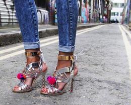 Новый высокое качество Peep Toe шнуровке мяч дизайн лодыжки блестками обернуть женщин Гладиатор сандалии жемчуг пятки партии носить обувь женщины от