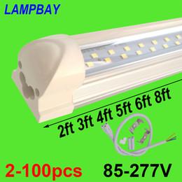 Le tube de la double rangée LED de 2-100pcs allume 2ft 3ft 4ft 5ft 6ft 8ft lampe jumelle lumineuse superbe de barre T8 le montage d'ampoule intégré avec les garnitures ? partir de fabricateur