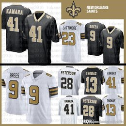 2b4ac46eb Best quality New Orleans Saints Jersey 41 Alvin Kamara 9 Drew Brees Stitched  28 Adrian Peterson 23 Marshon Lattimore 13 Michael Thomas Jerse