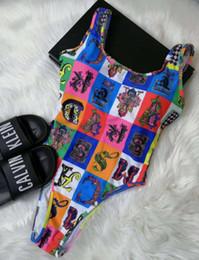 Biquíni de uma peça on-line-Versace One Piece Womens Biquíni Designer Swimwear Sexy Maiôs Mulheres Maiô Swimwear Maiô Biquinis BKA19