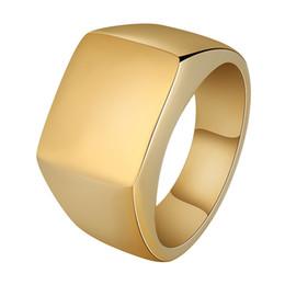 Edelstahl-o-ringe online-Modeschmuck Herren Ring Hip Hop Schmuck Edelstahl Iced Out Gold Überzogene Luxus Männer Hochzeit Band O Ring