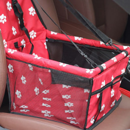 Capas de cinto de segurança para atacado do carro on-line-Criativo Atacado Impresso Pet Carriers Dog Tampa de Assento Do Carro Saco Mat Cobertor Safety Belt Mat Protector Carregando para o Cão