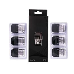 sistemi di confezione Sconti 3 pezzi / confezione Novo Pod Replacement 2ml Cartridges Tank Per Smoktech NOVO Vape Pod Starter Kit Kit 2ml 1.2ohm Novo Cartridge